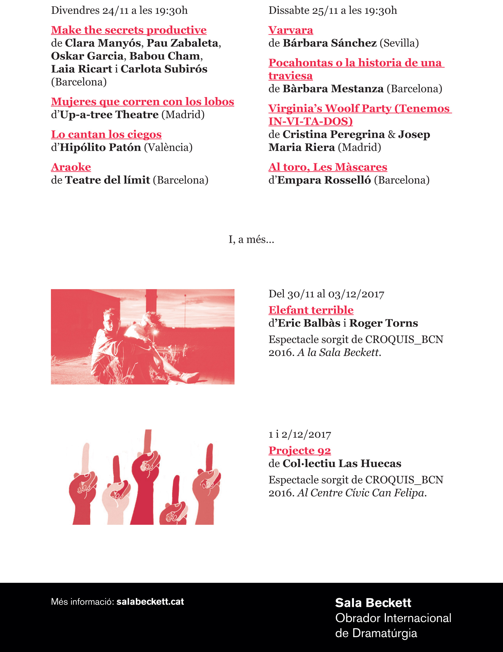 ... Sala Beckett   Obrador Internacional de Dramatúrgia. 2017 Edition.  flyer croquis v2(1)-1 flyer croquis v2(1)-2 eb66277fbdc